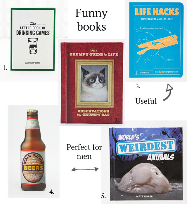 Gift ideas inspiration post by belgian fashion blogger turn it inside out from belgium / belgie. kerst cadeau ideeen inspiratie. christmas gifts. books. funny books, fashion books, food books, funny cooking books, men gifts, artistic books, banksy, andy warhol, drinking books, party books, grumpy cat, life hacks, weirdest animals, beer present, audrey hepburn inspiration.