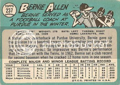 #237 Bernie Allen (back)