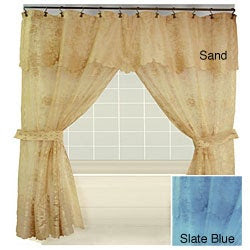 Tribute Lace Double Swag Shower Curtain | Overstock.com Shopping