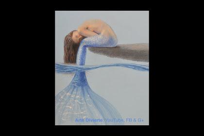 Dibujo Sirena A Lapiz