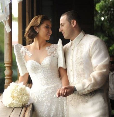 Filipiniana inspired butterfly sleeves wedding dress and