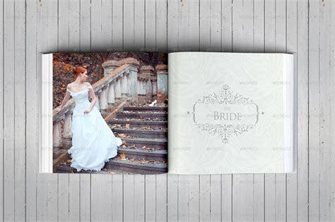 Elegant Square Wedding Photo Album Template by DogmaDesign