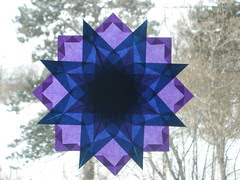 Purple and Blue Star