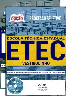 Processo Seletivo ETEC 2018-VESTIBULINHO