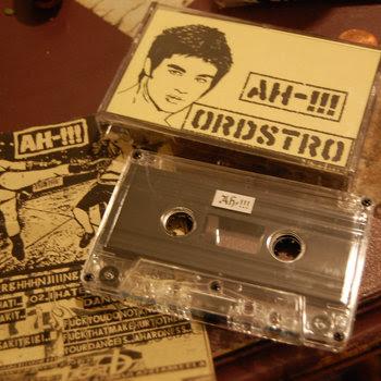 AH-!!!/ORDSTRO Split cover art