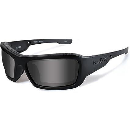 Wiley X CCKNI01 WX Knife Black Ops Ballistic Sunglasses, Smoke Grey Lens w/Matte Black Frame