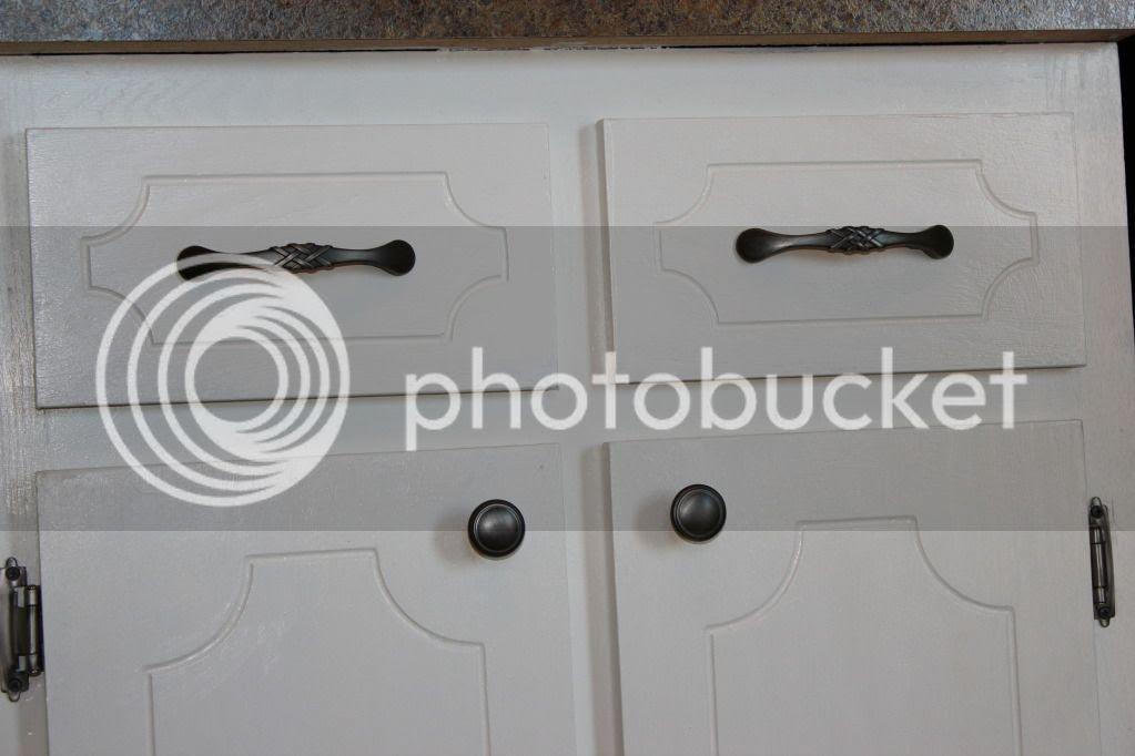 DIY Kitchen Cabinets w/ Pewter Hardware
