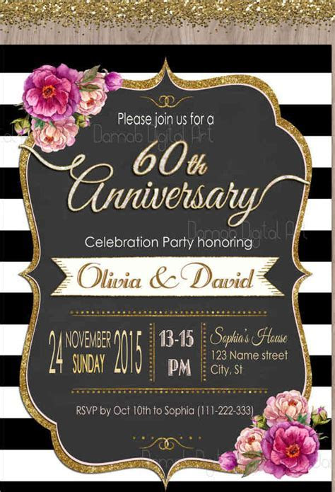 9  Anniversary Party Invitations   Designs, Templates