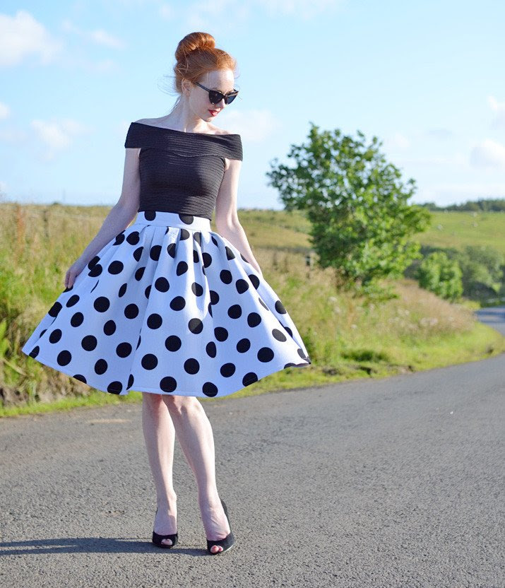 Full polkadot skirt