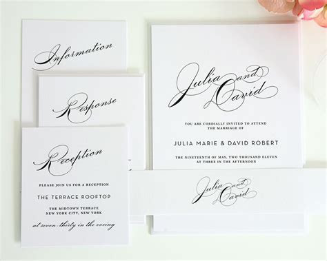 Simple Wedding Invitation Suite with Large Names ? Wedding