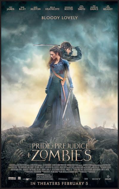Resultado de imagem para Pride and Prejudice and Zombies 2016