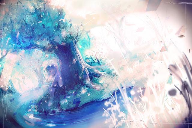 綺麗な壁紙 イラスト - 綺麗な風景や幻想的な風景と女の子が描かれたイラスト