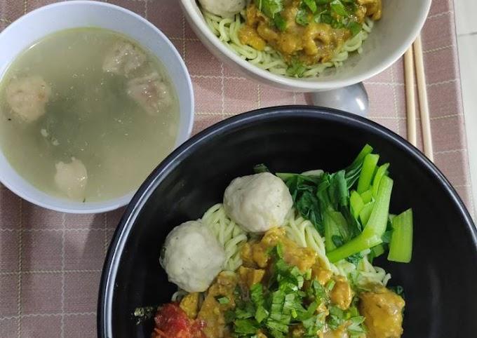 Resep Praktis Mi ayam homemade Gampang Banget