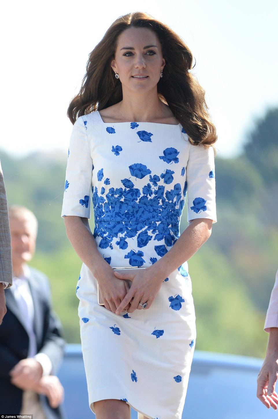 Blue And White Lasa Poppy Print Dress