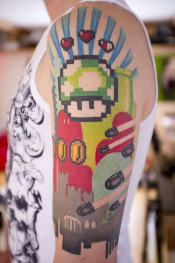 Nintendo Old School Tattoo Tattoomagz