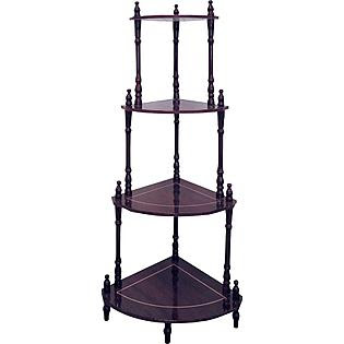 Ore Cherry 4-Tier Corner Stand - Furniture & Mattresses - Accent ...