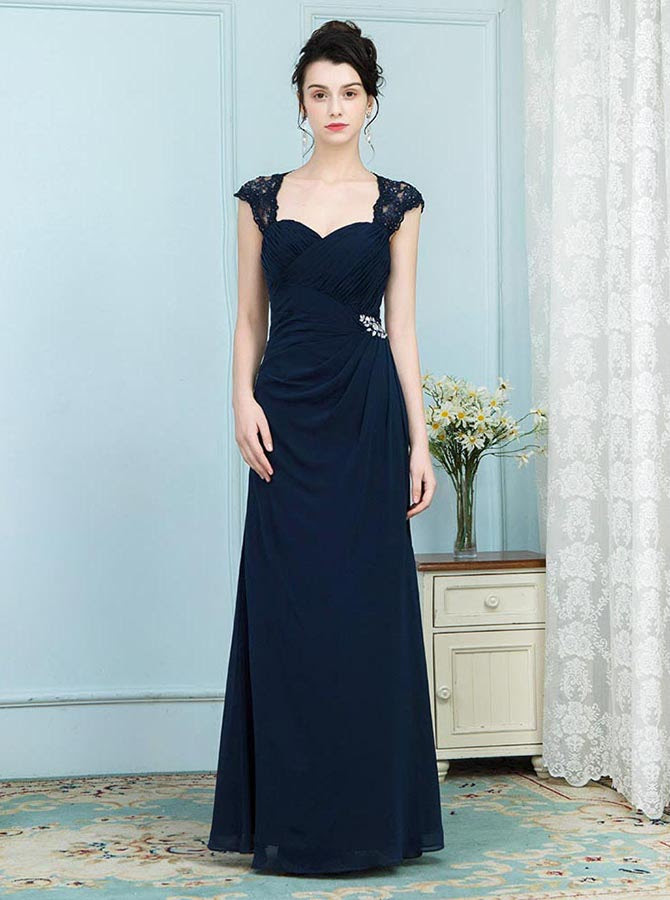 dark navy mother of the bride dresseselegant mother dress