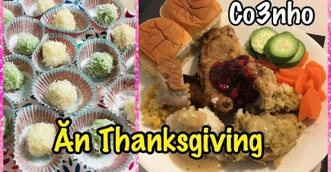 Ăn Thanksgiving Gà Tây Nướng - Bánh Sữa Dừa - Cuộc Sống Ở Mỹ - Co3nho 298