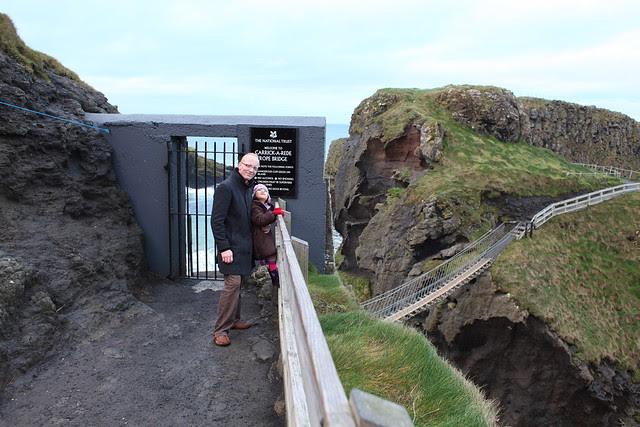 The Carrick-a-Rede Rope Bridge, Antrim Coast