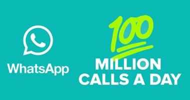 """مستعمل التطبيق """"واتس آب"""" يجرون 100 مليون مكالمة مجانية يوميا"""