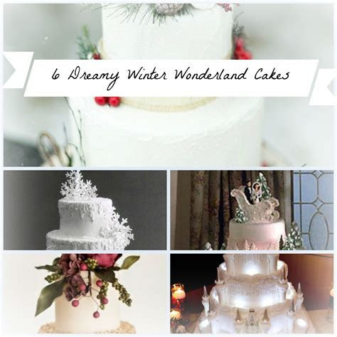 6 Super Dreamy Winter Wonderland Wedding Cakes