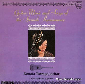 TARRAGO, RENATA guitar music and songs of the spanish renaissance