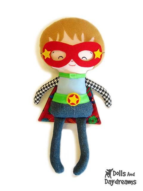 Superhero sewing pattern mask glasses cape belt copy