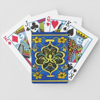 Gewgaw in Blue Poker Deck