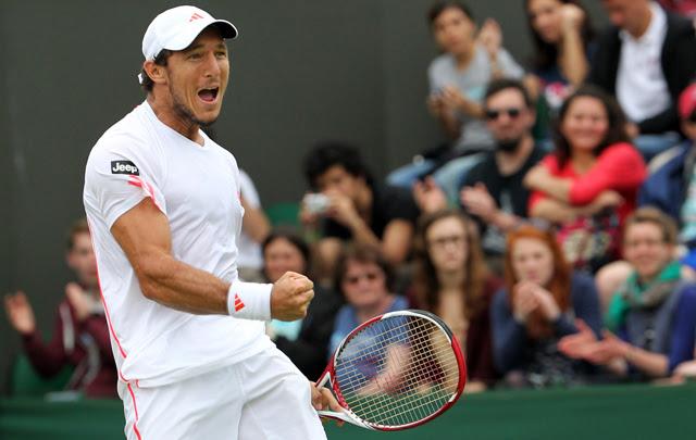 """""""Pico"""" Mónaco venció a Chardy y pasó a la tercera ronda de Wimbledon"""