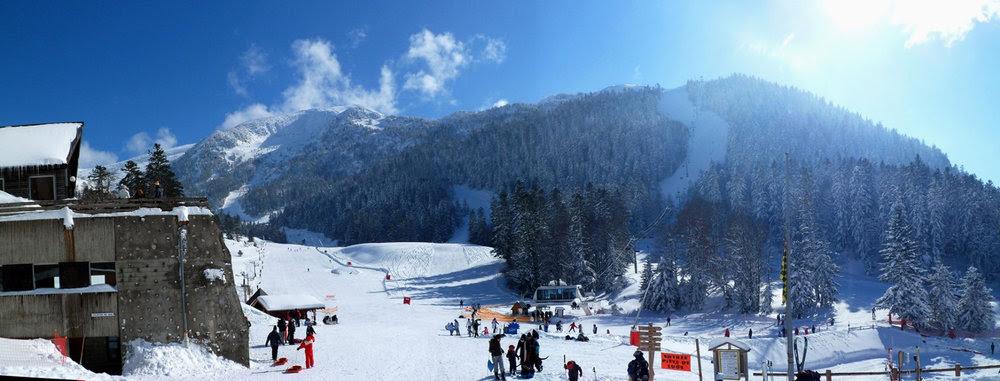 Vue sur la station de ski d'Ascou