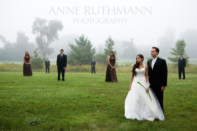 Maya & Clint's Real Wedding - Brown & Green