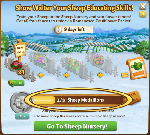 Medallion Board - FarmVille 2