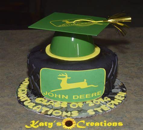 John Deere Graduation Cake I spray painted a black