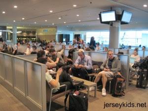 Comfortable seating at the Billy Bishop Airport. Copyright Deborah Abrams Kaplan