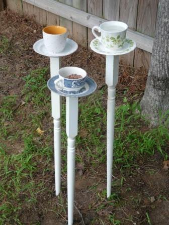 DIY Tea Cup Bird Feeders | Shelterness