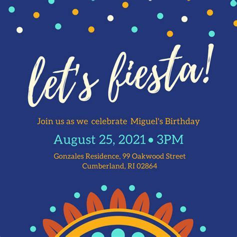 Customize 73  Fiesta Invitation templates online   Canva