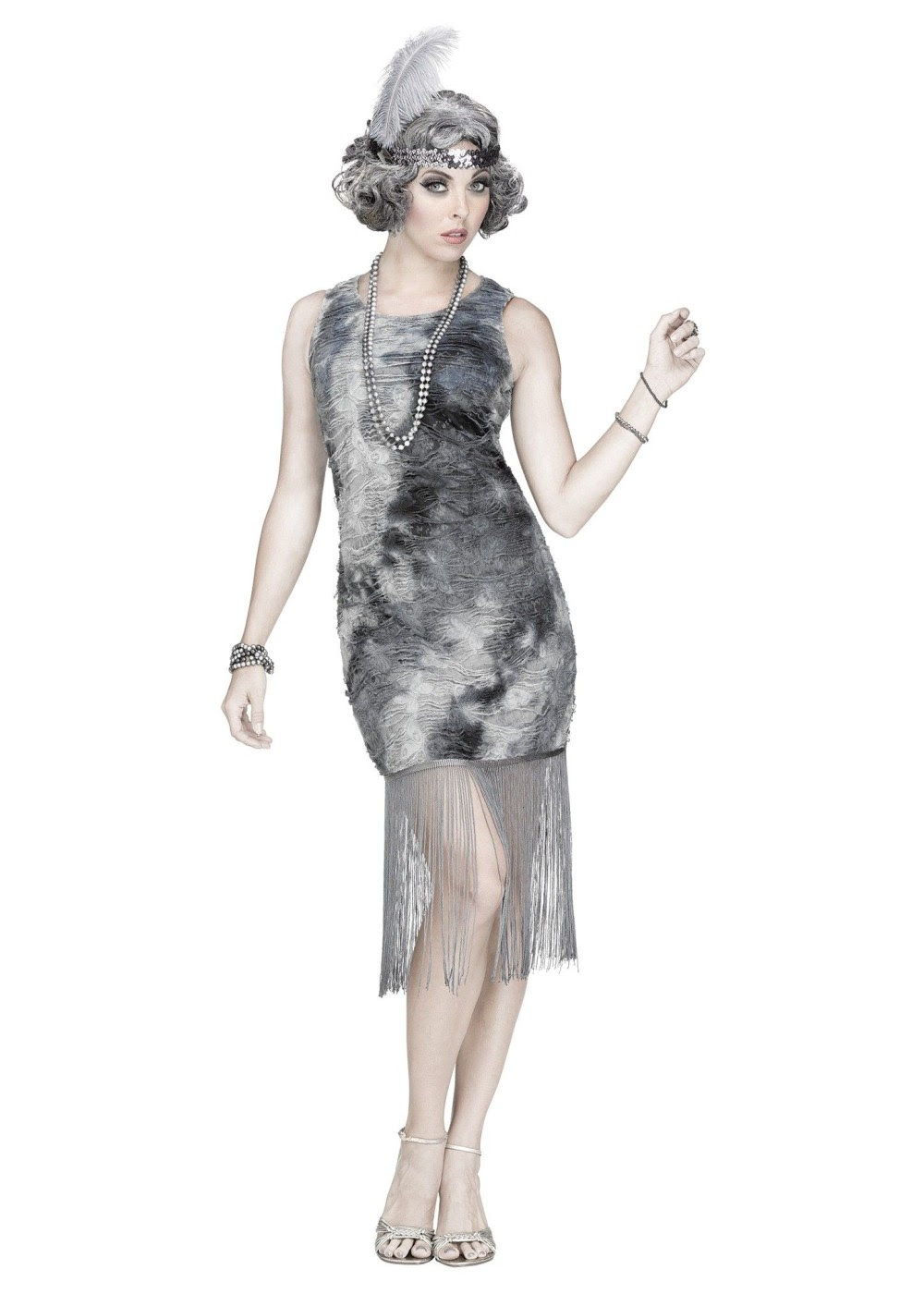 ghostly flapper costume  scary costumes