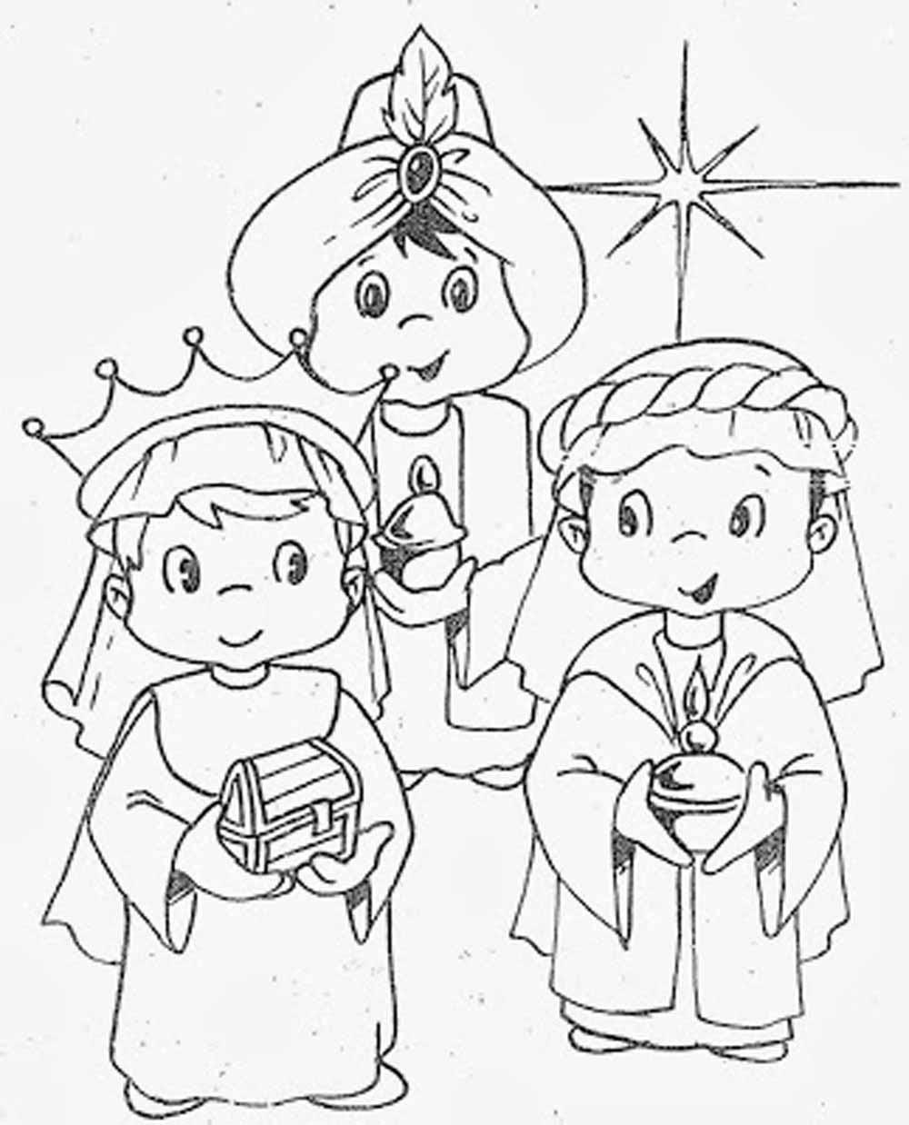 Imagenes De Reyes Magos Para Colorear Dibujos De