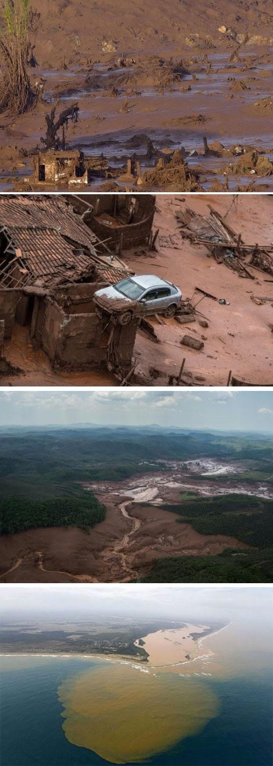 Piores 'acidentes' envolvendo barragens no Brasil e no mundo