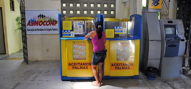Interior do Banco Palmas, em Fortaleza (Foto: Wikimedia Commons)