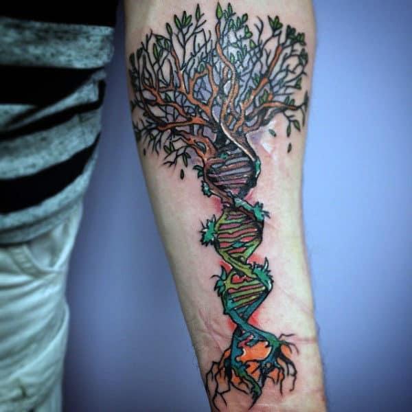 60 Dna Tattoo Designs For Men Self Replicating Genetic Ink