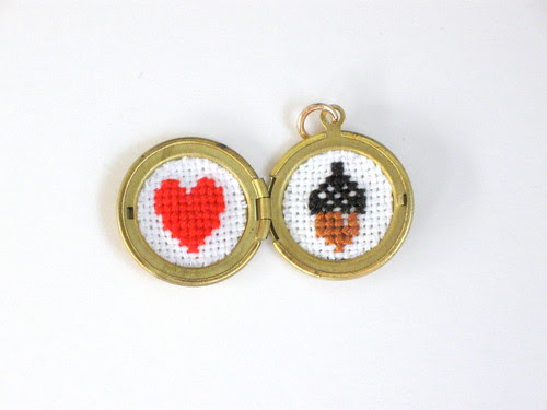 Heart/Acorn Locket