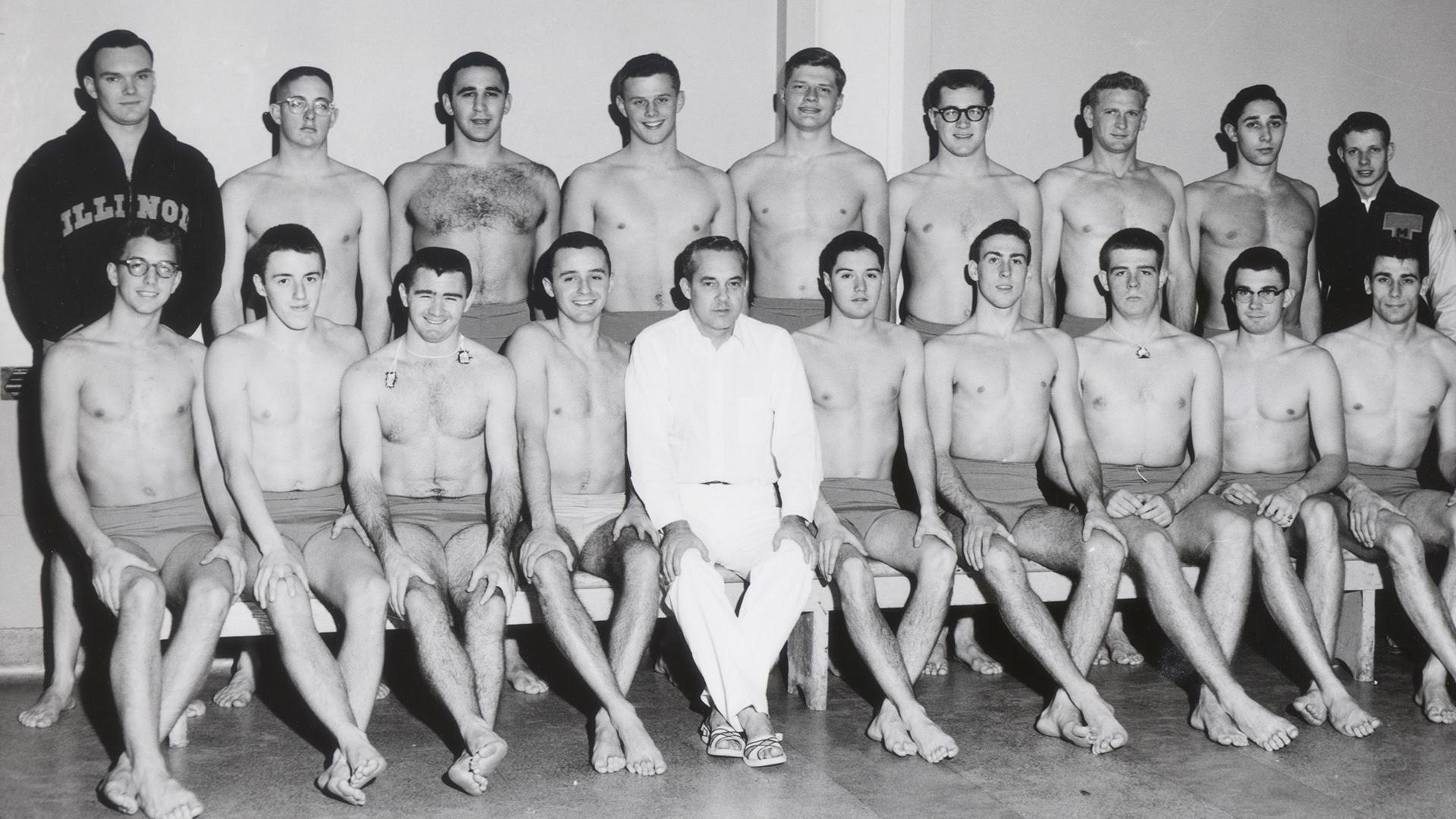 History Men S Swimming University Of Illinois Athletics
