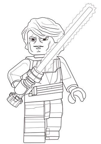 Disegno Di Anakin Skywalker Di Lego Star Wars Da Colorare Disegni