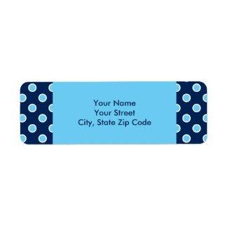 Bright Blue Polka Dots address labels