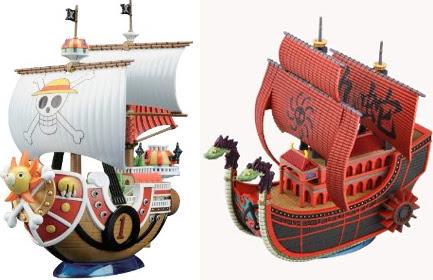 ワンピースの船のフィギュアが凄い海賊船海軍軍艦を忠実に再現