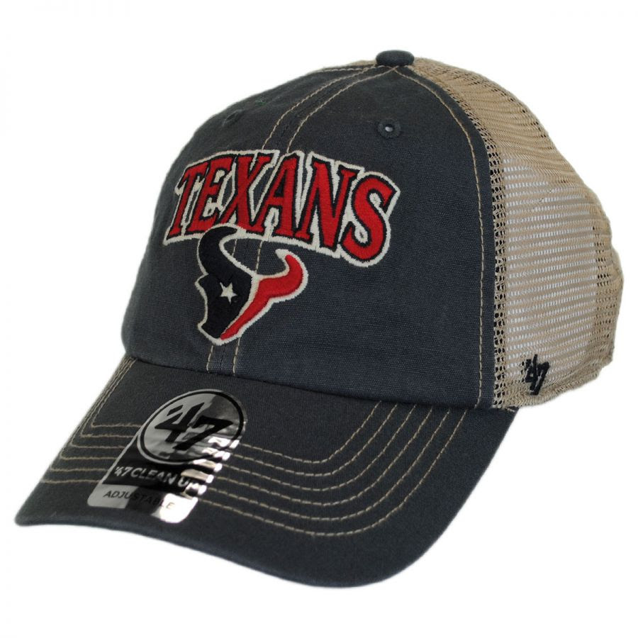 47 Brand Houston Texans NFL Tuscaloosa Mesh Fitted Baseball Cap NFL Football Caps