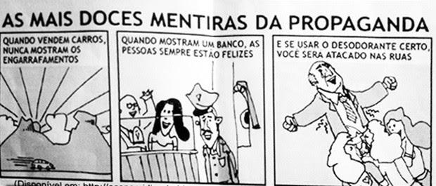 Tirinha com ilustração polêmica na prova do IFES. (Foto: Cidadão Repórter/ Gazeta Online)