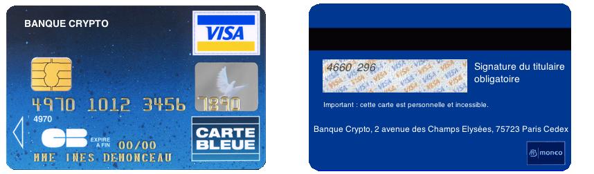 De Verso Recto Numero Valide Bancaire Carte