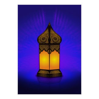 Intricate Islamic Floor Lamp print